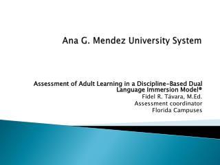 Ana G. Mendez University System