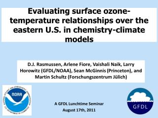 Evaluating surface ozone-temperature relationships over the eastern U.S. in chemistry-climate models