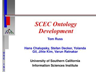 SCEC Ontology Development
