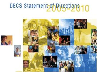 DECS Statement of Directions 2005 - 2010