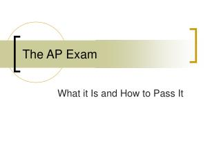 The AP Exam