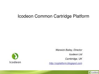 Icodeon Common Cartridge Platform