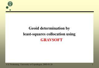 Geoid determination by  least-squares collocation using   GRAVSOFT
