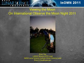 Viewing the Moon On International Observe the Moon Night 2011