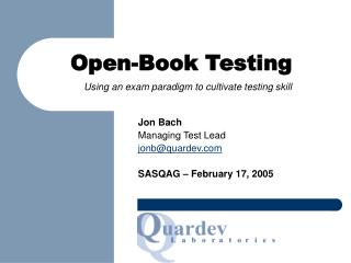 Open-Book Testing