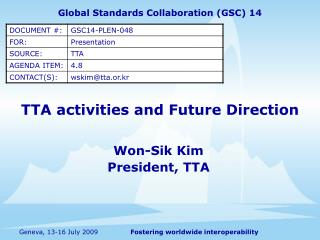 TTA activities and Future Direction