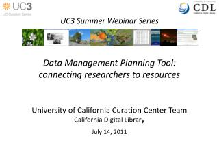 Data Management Planning Tool: connecting researchers to resources