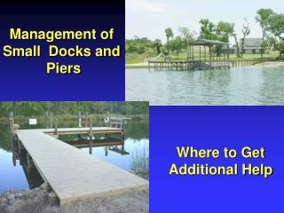 Management of  Small  Docks and  Piers