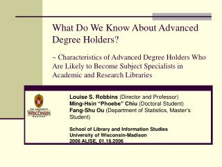 What Do We Know About Advanced Degree Holders    Characteristics of Advanced Degree Holders Who Are Likely to Become Sub
