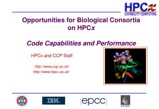 Opportunities for Biological Consortia on HPCx  Code Capabilities and Performance