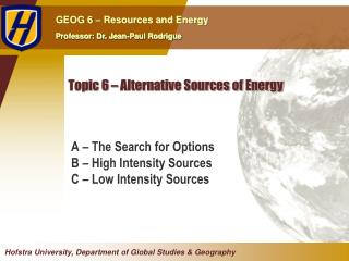 Topic 6   Alternative Sources of Energy