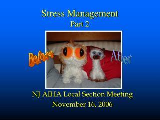 Stress Management Part 2