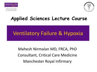 Ventilatory Failure  Hypoxia