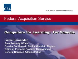 Computers for Learning:  For Schools