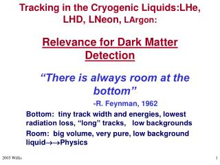Tracking in the Cryogenic Liquids:LHe, LHD, LNeon, LArgon:  Relevance for Dark Matter Detection