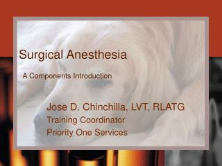 Anesthesia Components Introduction