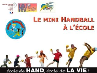 Le mini Handball    l  cole