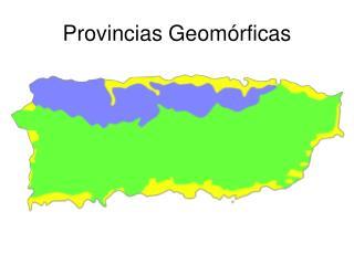 Provincias Geom rficas