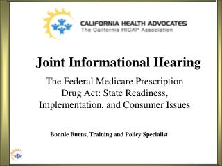 Joint Informational Hearing