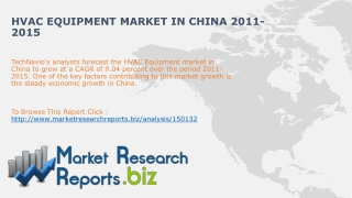 HVAC Equipment Market in China 2011-2015