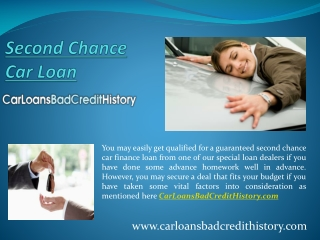 Second chance car loans