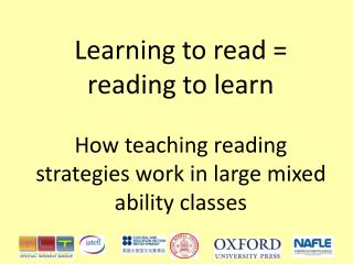 Learning to read   reading to learn   How teaching reading strategies work in large mixed ability classes
