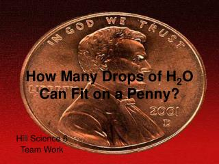 How Many Drops of H2O Can Fit on a Penny