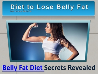 Belly Fat Diet
