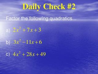 Daily Check 2