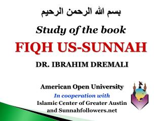 American Open University In cooperation with  Islamic Center of Greater Austin  and Sunnahfollowers
