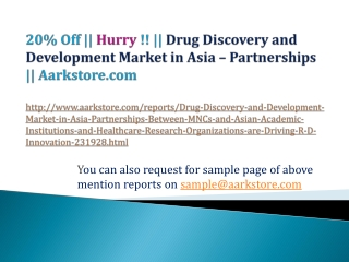 20% Off  | Aarkstore.com || Drug Discovery and Development M