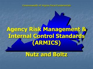 Agency Risk Management  Internal Control Standards ARMICS  Nutz and Boltz
