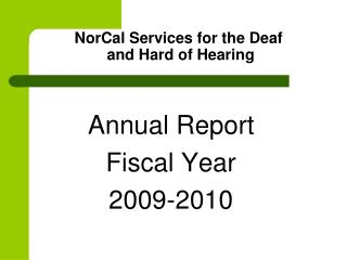 NorCal Services for the Deaf  and Hard of Hearing
