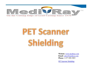 PET Scanner Shielding - Medi-Ray