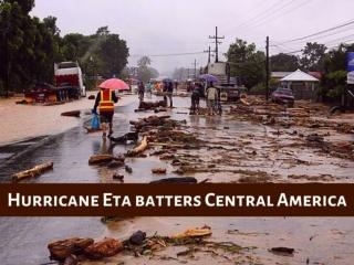 Hurricane Eta batters Central America