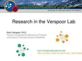 Research in the Verspoor Lab