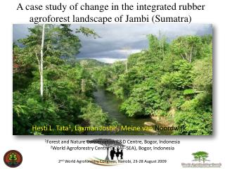 A case study of change in the integrated rubber agroforest landscape of Jambi Sumatra