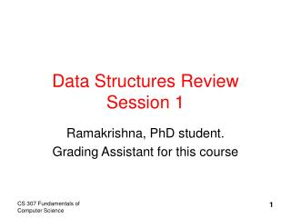 Data Structures Review Session 1