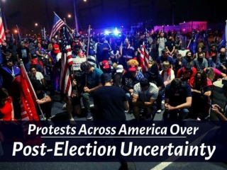Protests across America over post-election uncertainty