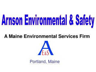A Maine Environmental Services Firm