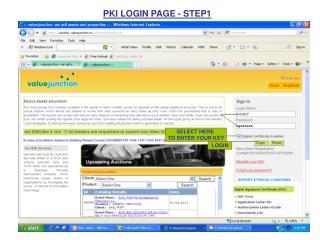 PKI LOGIN PAGE - STEP1