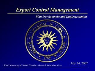 Export Control Management