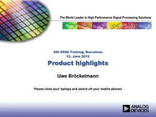 Uwe Br ckelmann   Please close your laptops and switch off your mobile phones