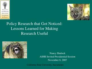 Policy Research that Got Noticed: Lessons Learned for Making Research Useful