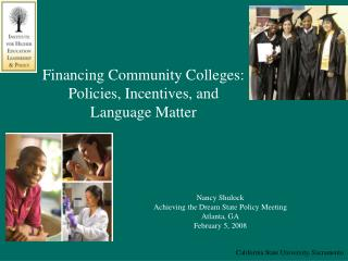 Financing Community Colleges:  Policies, Incentives, and Language Matter