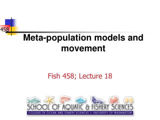 Meta-population models and movement