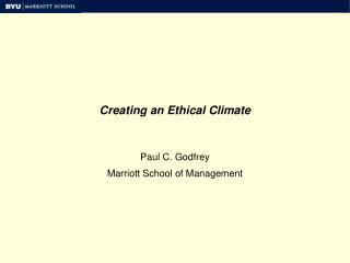 Creating an Ethical Climate