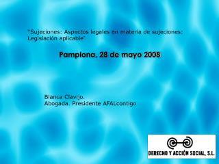 Pamplona, 28 de mayo 2008
