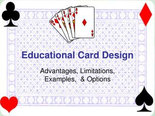 Educational Card Design