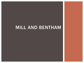 Mill and Bentham